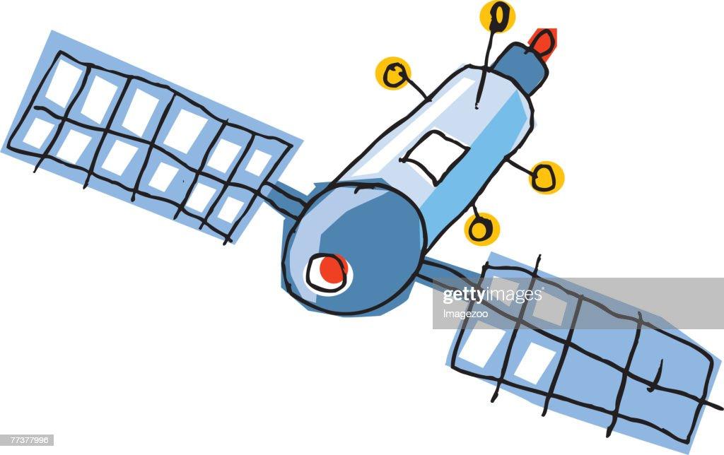 satellite : Stock Illustration