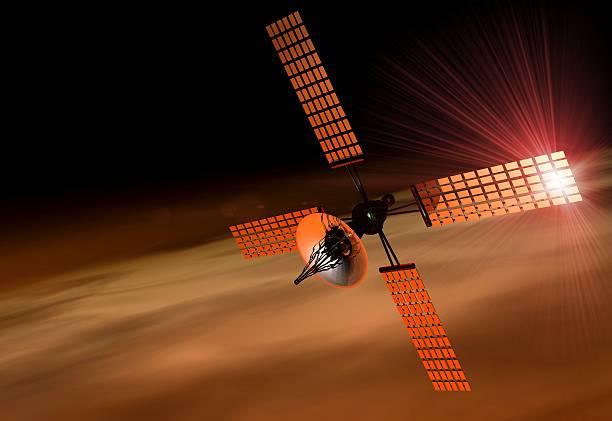 Satellite Orbiting Mars, Artwork Wall Art