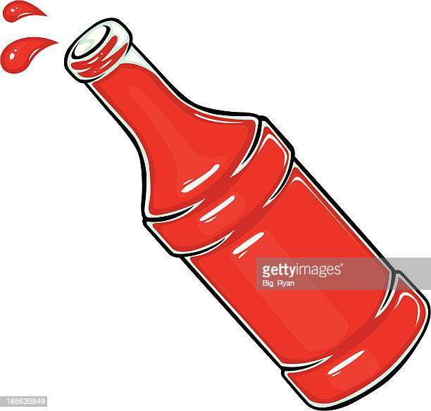 sauce bottle - ketchup stock illustrations, clip art, cartoons, & icons