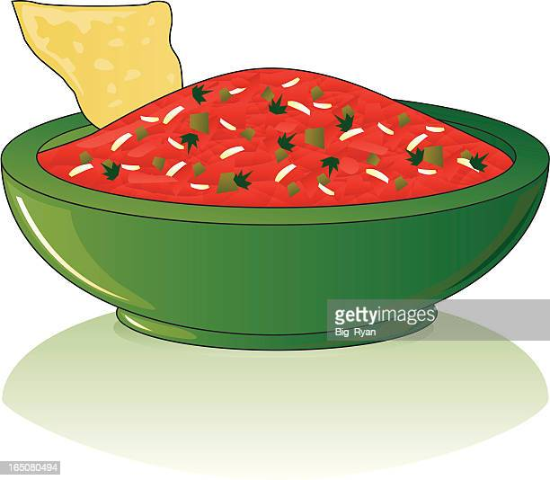 salsa - dipping stock illustrations, clip art, cartoons, & icons