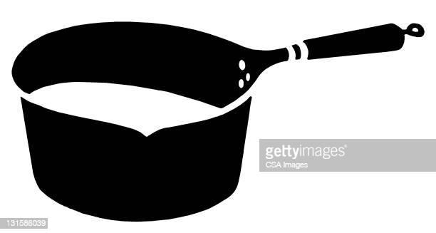 saucepan - cooking utensil stock illustrations, clip art, cartoons, & icons