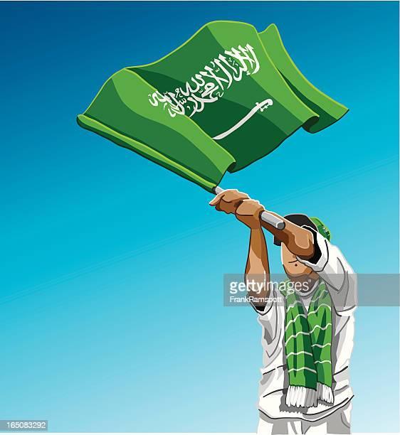 Saudi Arabia Waving Flag Soccer Fan