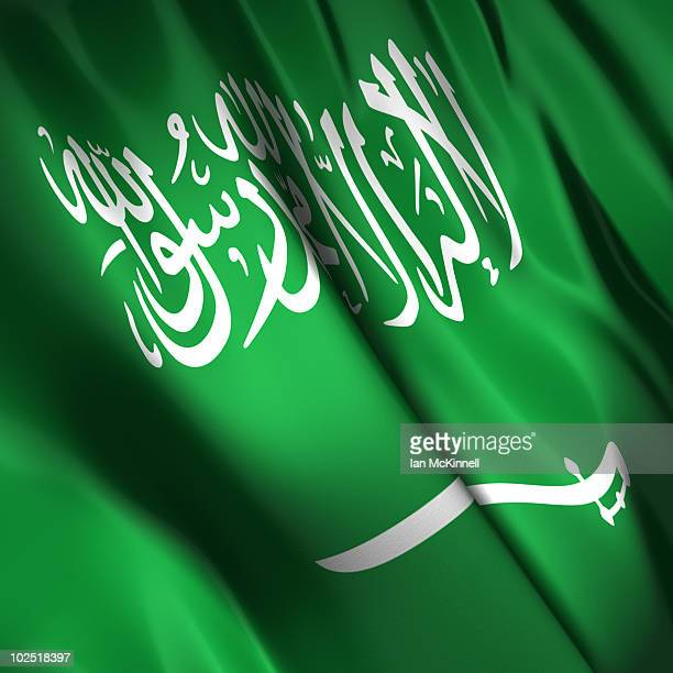 saudi arabian flag - arabic script stock illustrations, clip art, cartoons, & icons