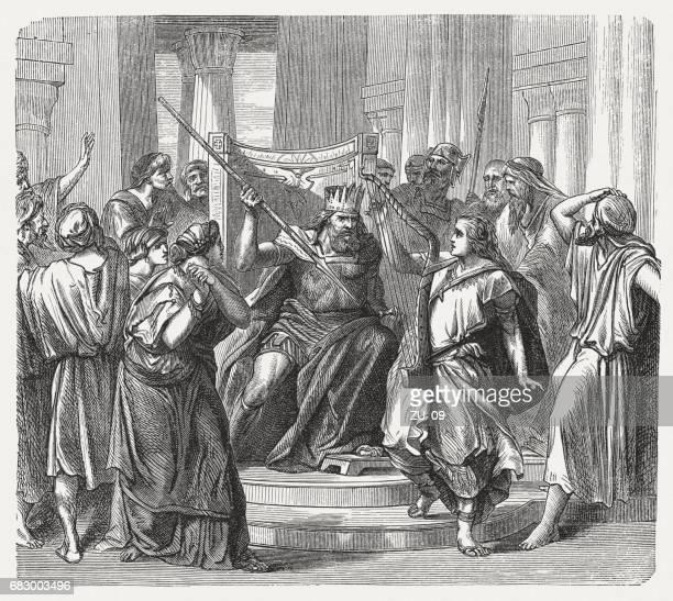 Saul tries to kill David (1 Samuel 19), published 1880