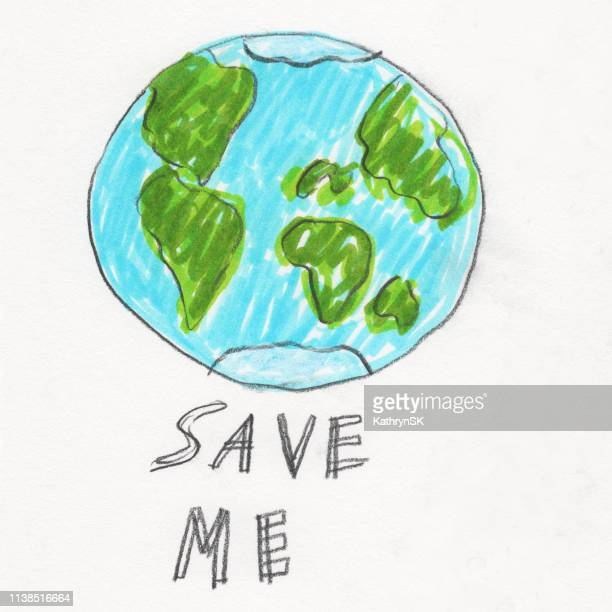 save me earth - earth day stock illustrations