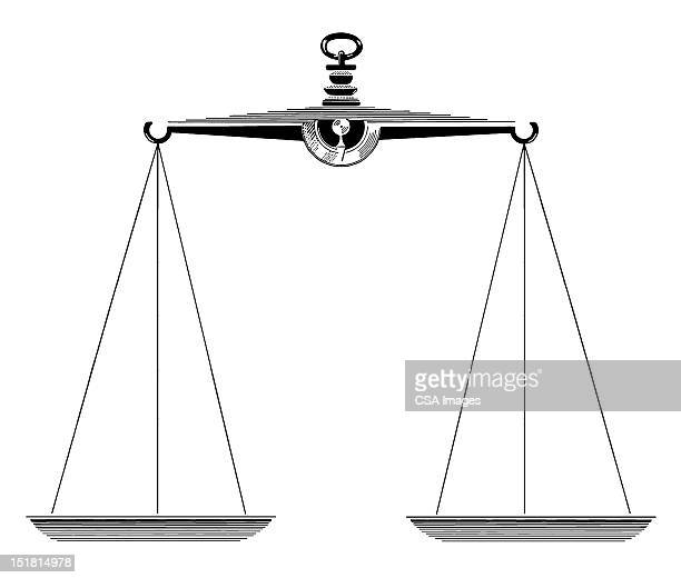 scales - balance stock illustrations