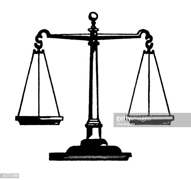 scales of justice - scale stock illustrations