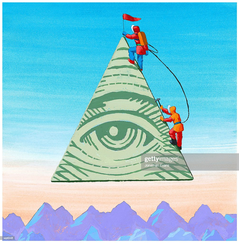 Scaling the Financial Pyramid : Stock Illustration