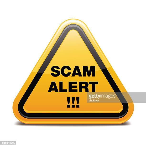 scam alert - corporate theft stock illustrations