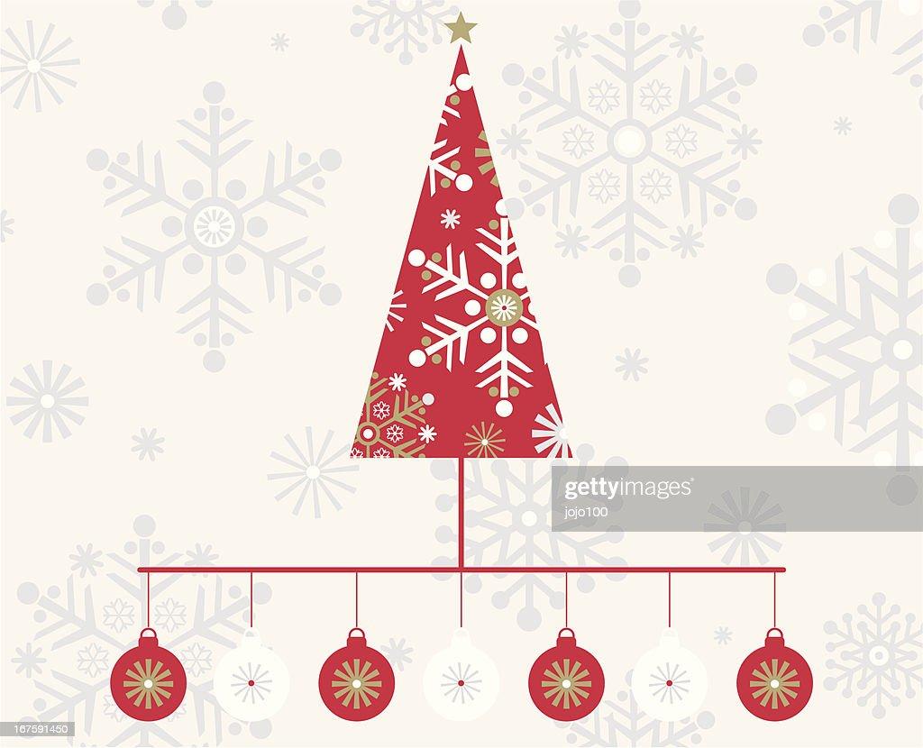 スカンジナビア風のクリスマスツリーボーブルプリント ベクトルアート