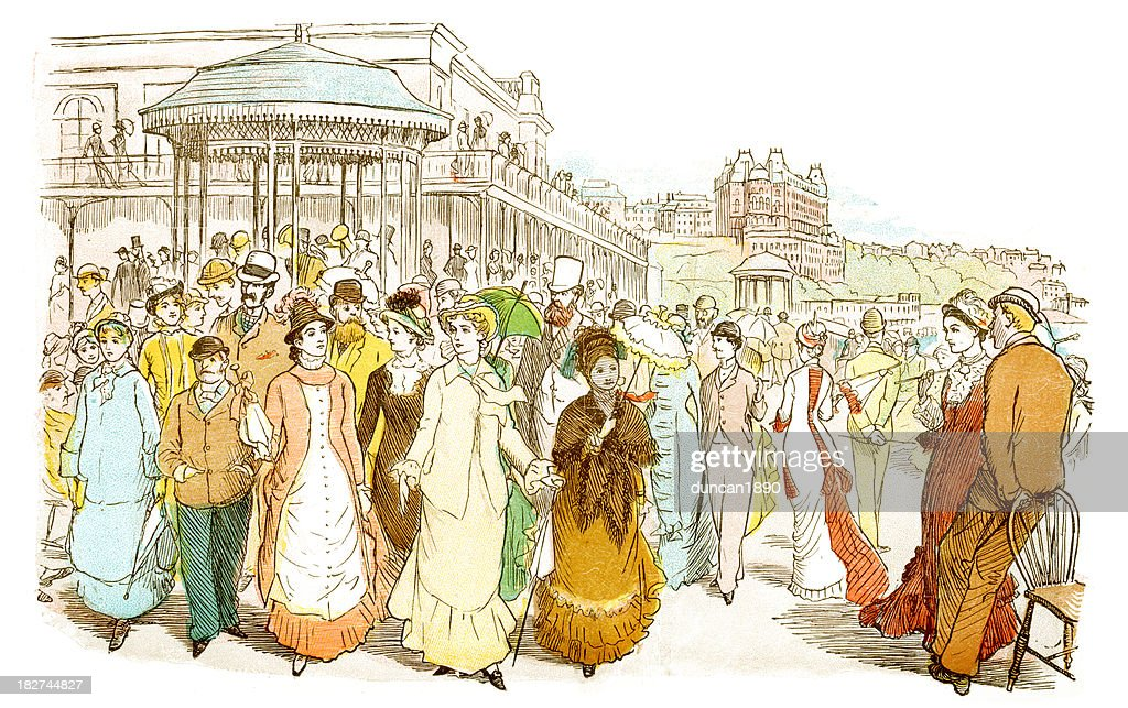 Scarborough Promenade : stock illustration