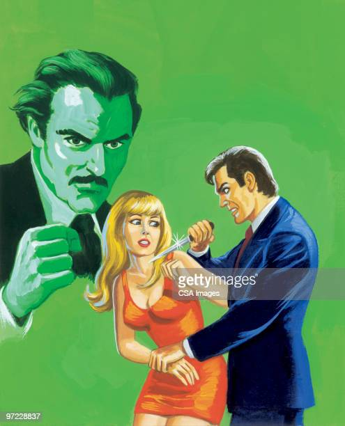 scared woman - murder stock illustrations, clip art, cartoons, & icons