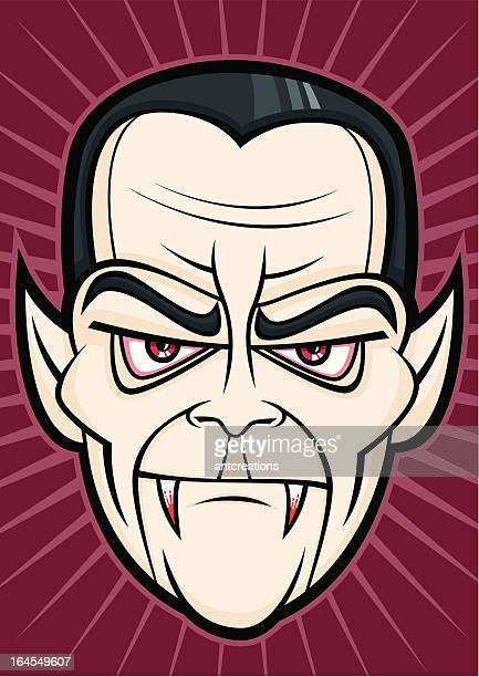scary dracula halloween head monster face - count dracula stock illustrations, clip art, cartoons, & icons