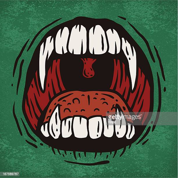 scary mouth - vampire stock illustrations, clip art, cartoons, & icons