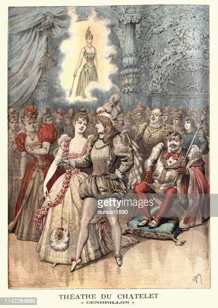 サンドからの風景 (シンデレラ)、シアター・デュ・シャトレ、パリ、1890年代 - 1890~1899年点のイラスト素材/クリップアート素材/マンガ素材/アイコン素材