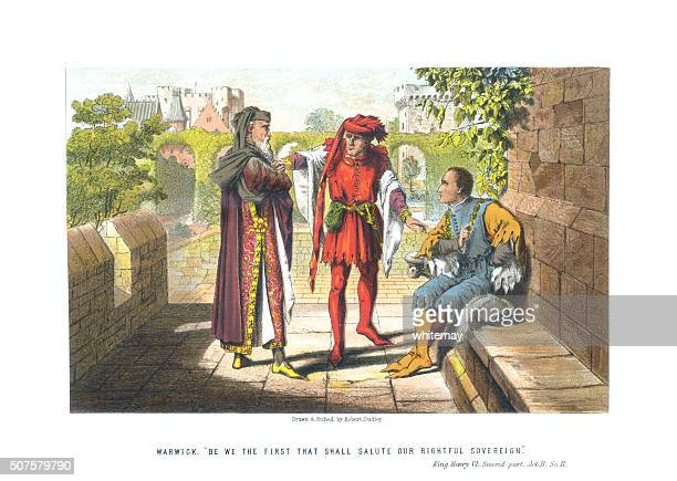 scene from king henry vi part-2 act 2 scene 2 - actor stock illustrations, clip art, cartoons, & icons