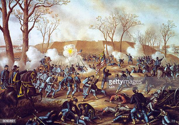 Scene from the Battle of Fort Donelson.