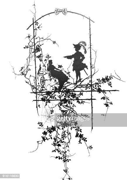 Scene from the fairy tale Sleeping Beauty