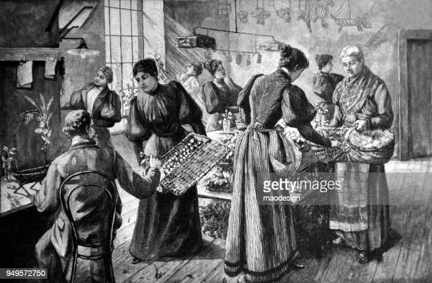 Scene in a florist's shop _ 1895