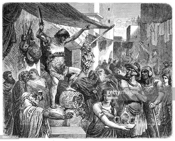 Scene in the streets of Ancient Rome