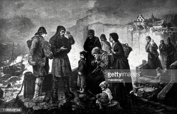 scene with the people of the medieval city - 1887 stock illustrations, clip art, cartoons, & icons