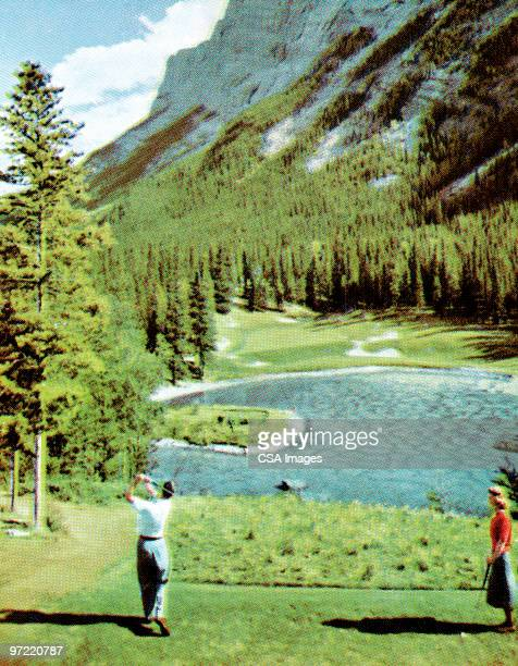 scenic golfing - country club stock illustrations, clip art, cartoons, & icons