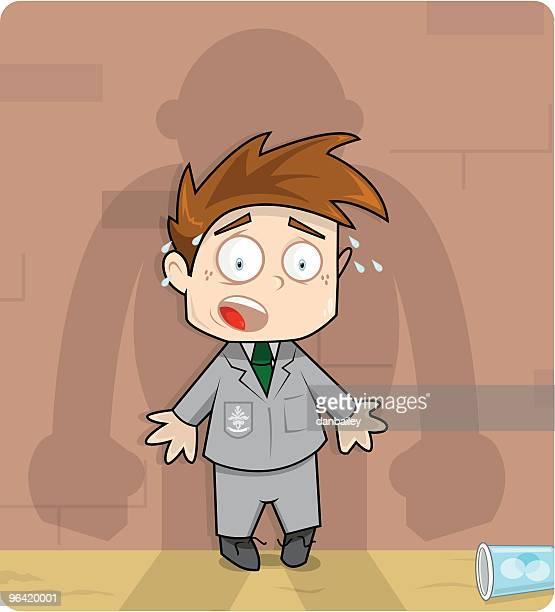 ilustraciones, imágenes clip art, dibujos animados e iconos de stock de escuela matones - bullying escolar