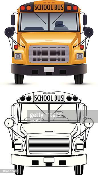 school bus - front view stock illustrations