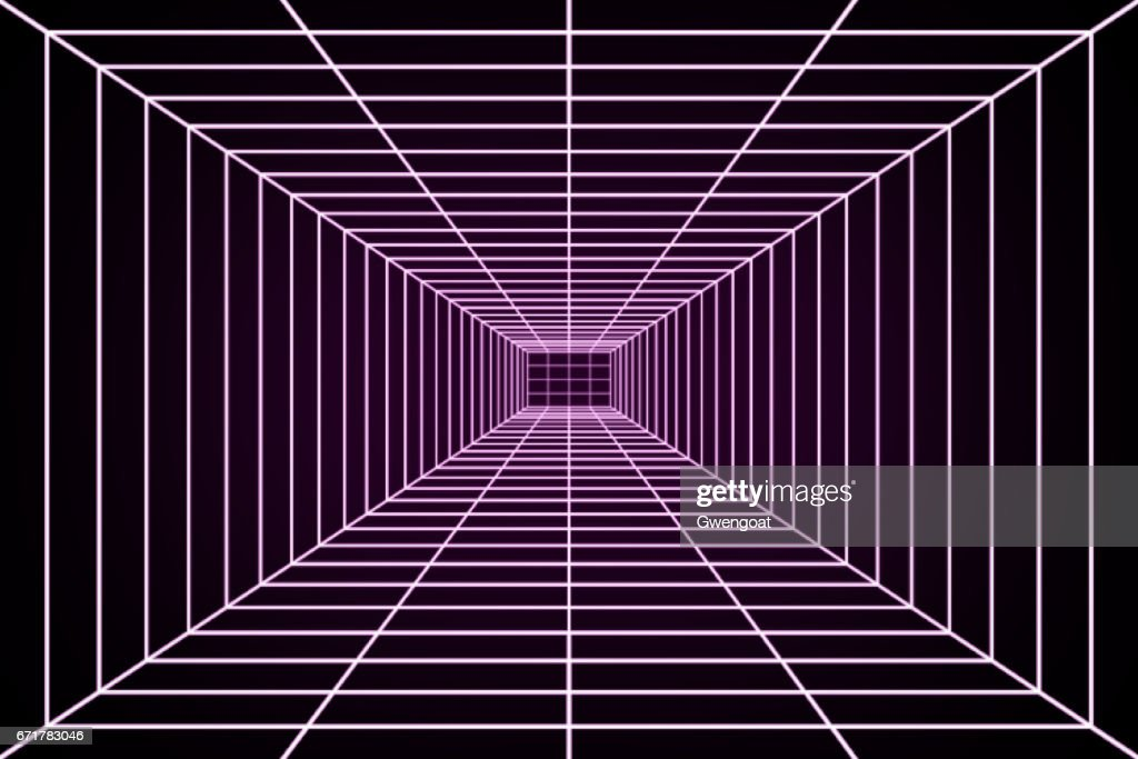 Sci Fi 3d Grid From The 80s stock illustration - Getty Images