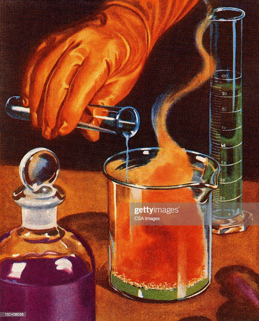 Science Experiment : stock illustration