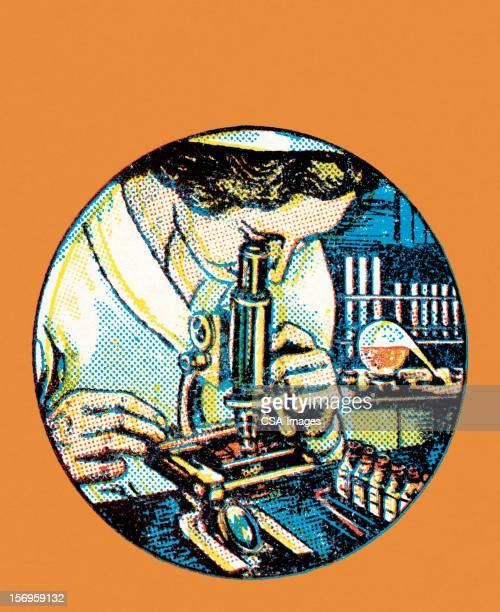 illustrazioni stock, clip art, cartoni animati e icone di tendenza di scienziato - scienziata