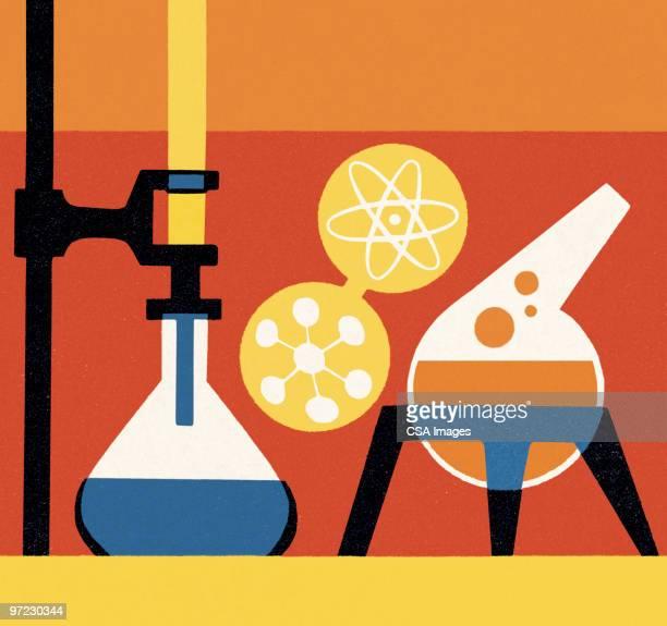 scientist - laboratory equipment stock illustrations
