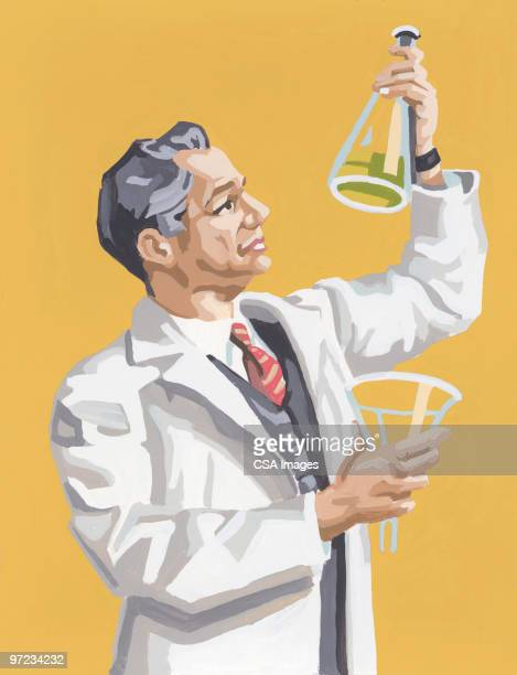科学者 - 白衣点のイラスト素材/クリップアート素材/マンガ素材/アイコン素材