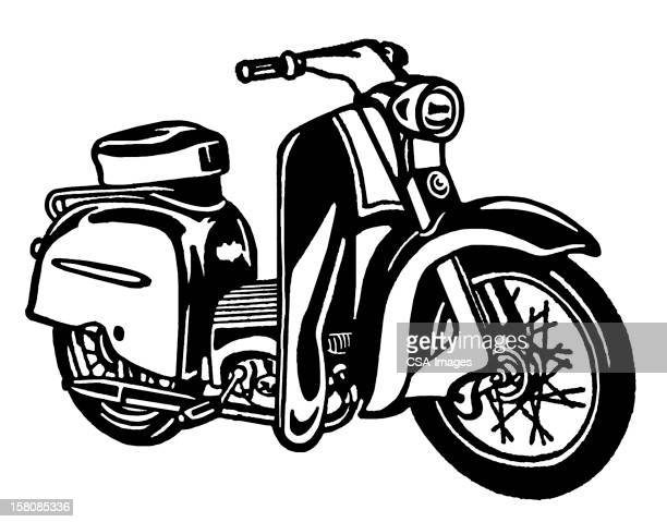 scooter - moped stock illustrations, clip art, cartoons, & icons