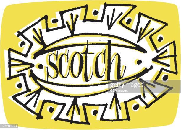 scotch - scotch whiskey stock illustrations, clip art, cartoons, & icons