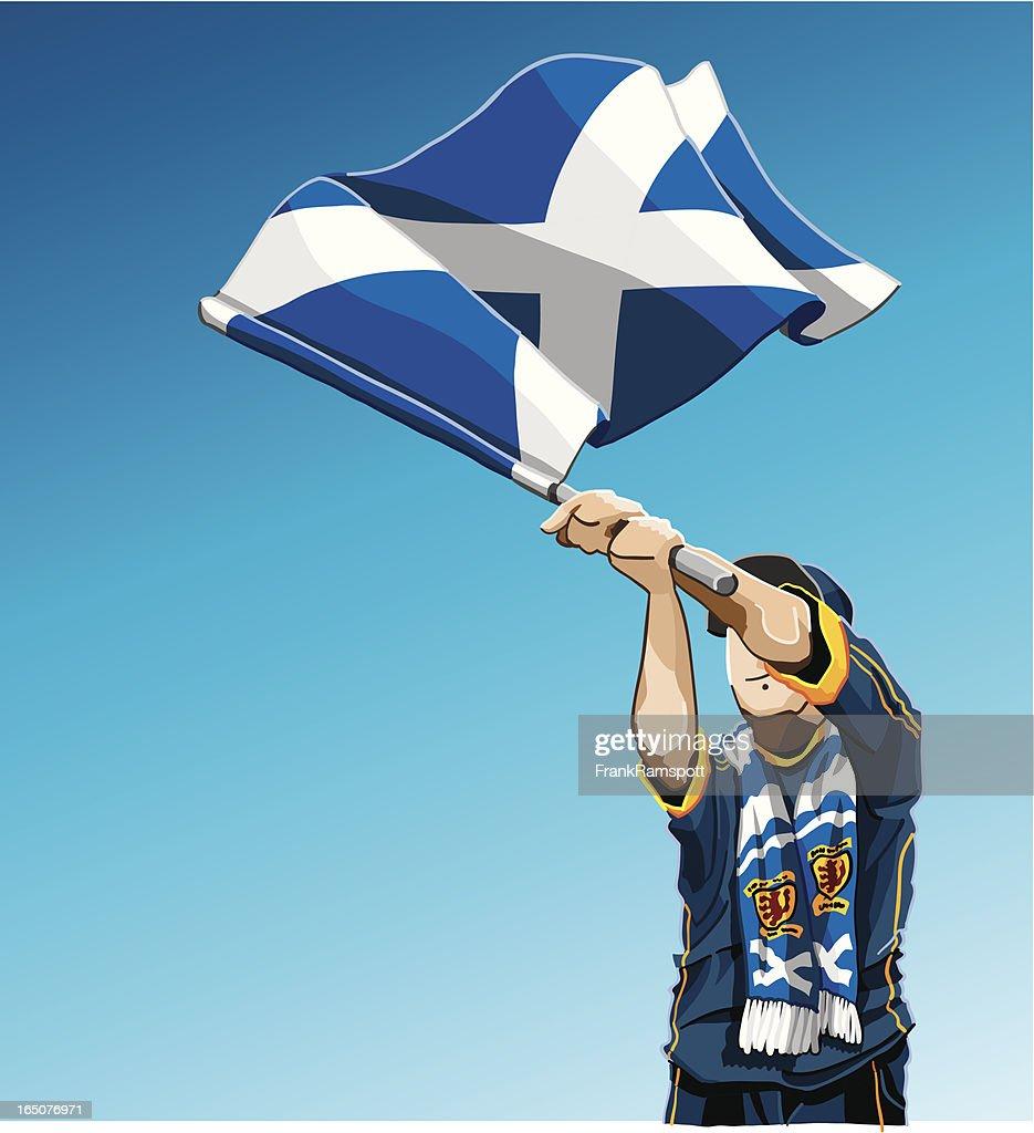 Schottland winken Flagge Fußball-Fan : Stock-Illustration