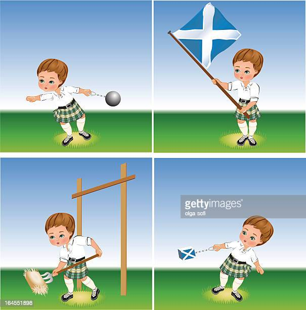 scottish highland games. - traditional sport stock illustrations, clip art, cartoons, & icons