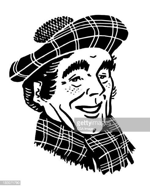 Scottish Man in Tam Hat