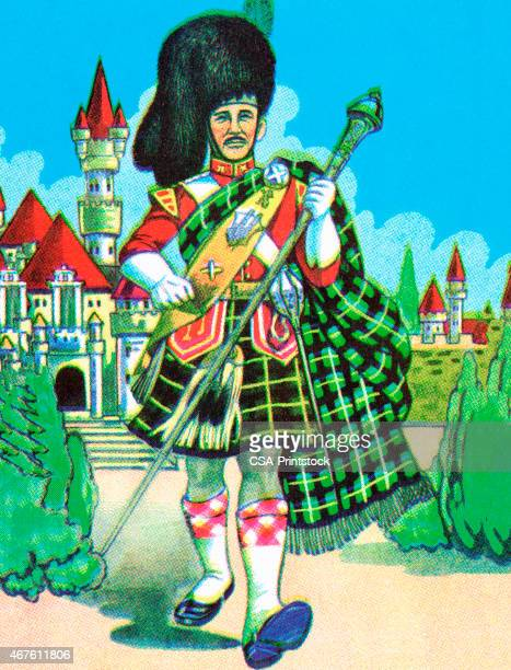 Scottish Man in Traditional Costume