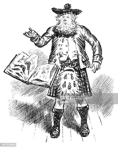 Scottish Man Throwing Book