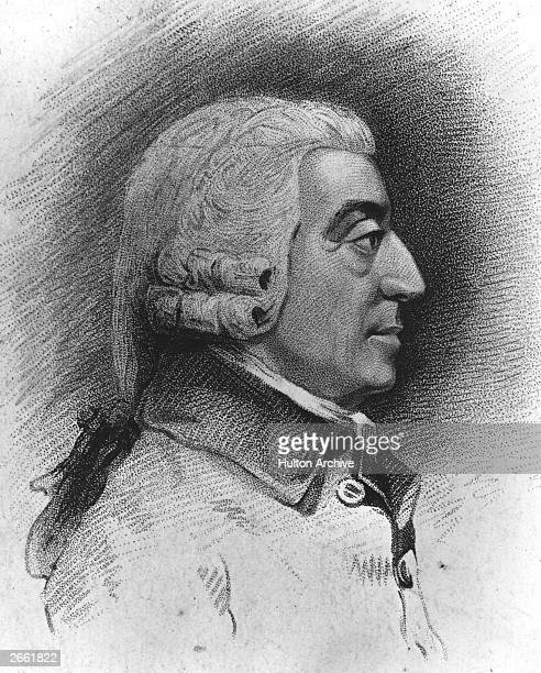 Scottish political economist Adam Smith Original Artwork Drawing by J Jacks and engraved by C Picart from a model by Tassie