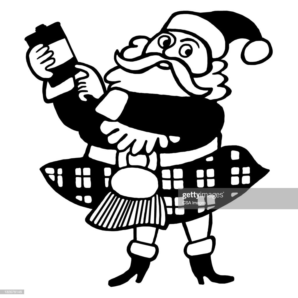 Scottish Santa : stock illustration