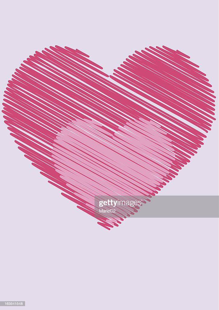 Scribbled Pink Hearts