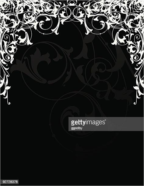 scrolled frame design (vector) - gothic style stock illustrations, clip art, cartoons, & icons