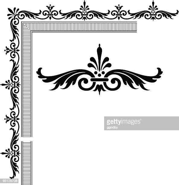 scrolled frame design (vector) - scrollen stock illustrations