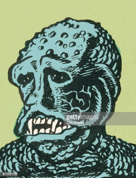 sea creature - image stock illustrations