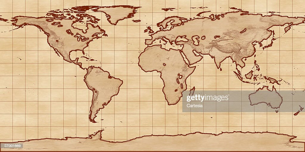 Sea level map flat projection stock illustration getty images sea level map flat projection stock illustration gumiabroncs Images
