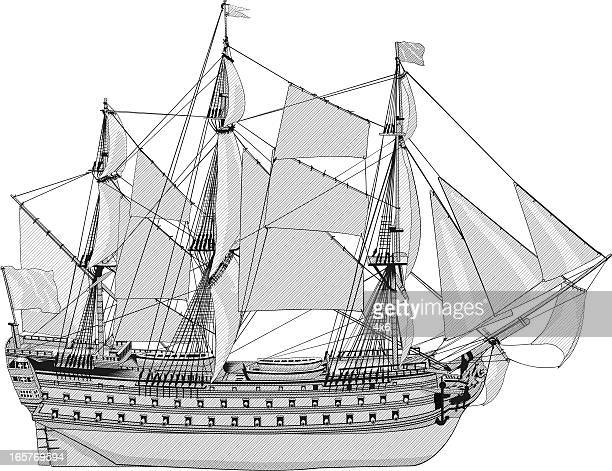 Sea vessel transport ship sailing