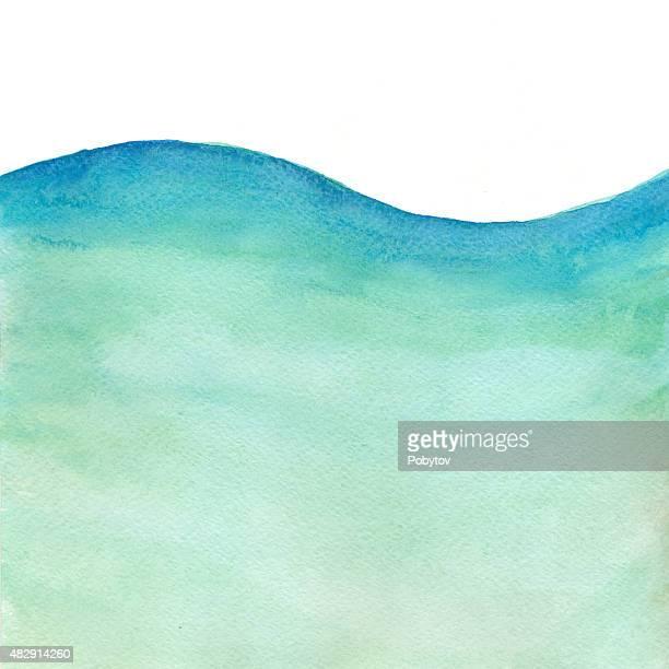 Sea Wave - Watercolor Background