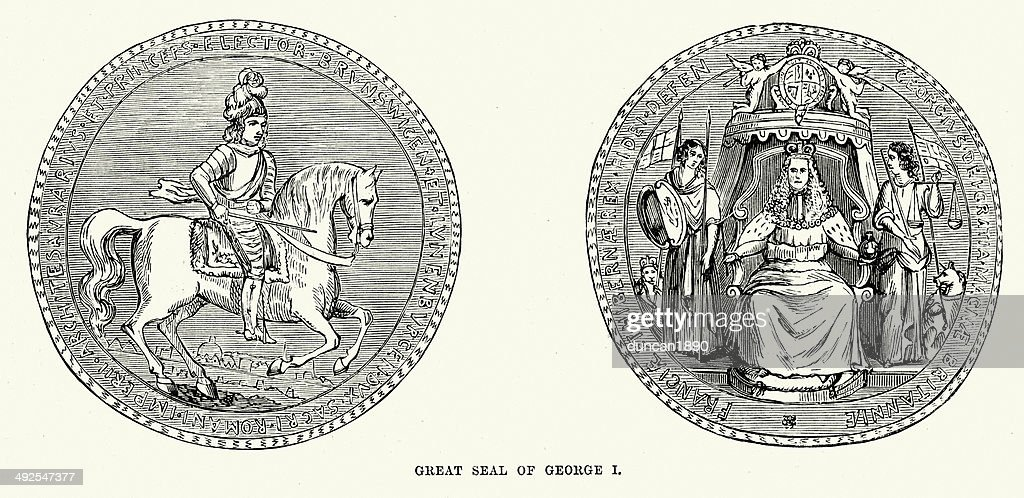 Seal of King George I : stock illustration